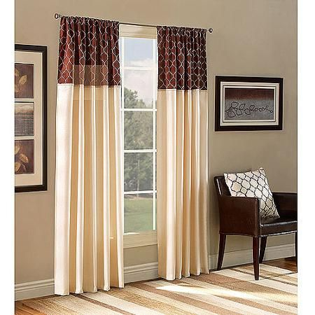 Belle Maison Ludlow Reversable Panel In Mocha Walmart 15 Living Room CurtainsLiving