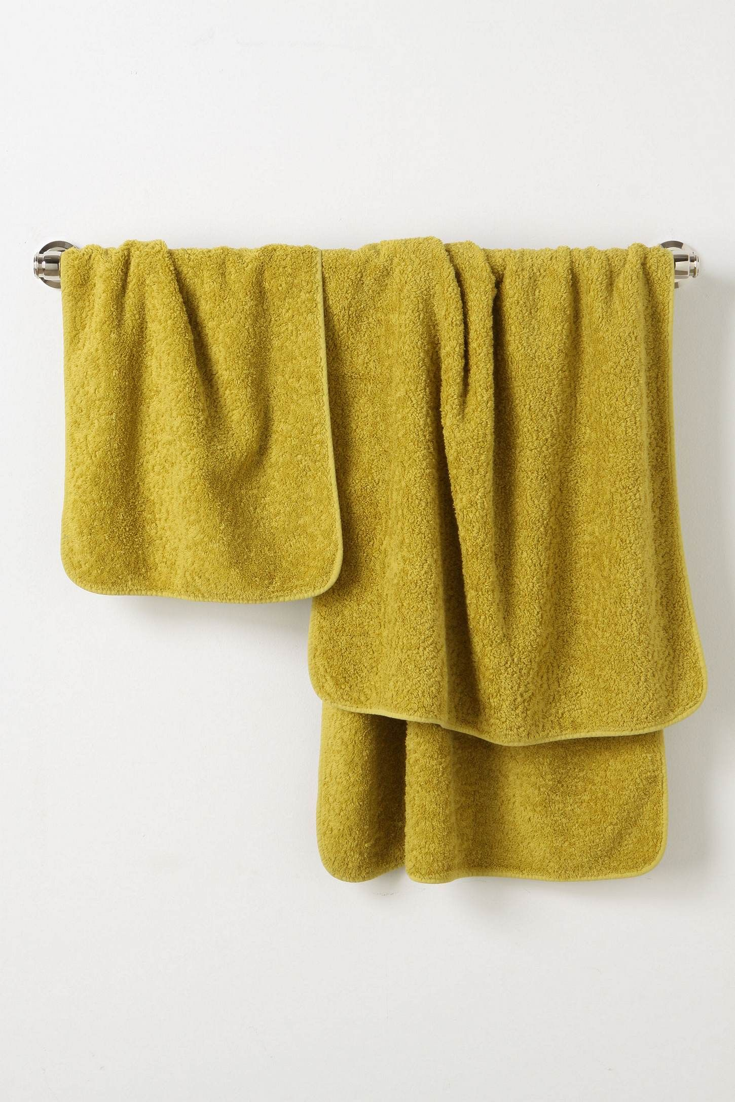 Chartreuse Bath Towels Towel Collection Anthropologie Towels Spring Outfits