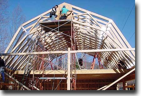Gambrel Roof Trusses & How To Build Gambrel Roof Trusses ...