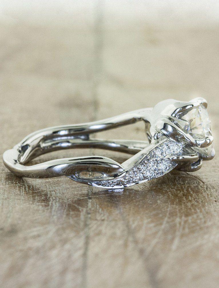 Simple Nature inspired engagement ring Sundara Ken u Dana Design
