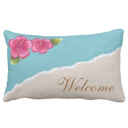 Beach Wedding Throw Pillow Lumbar 13x21