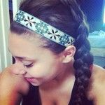 Dutch braid and headband  #dutch #braid #headband #summer #style