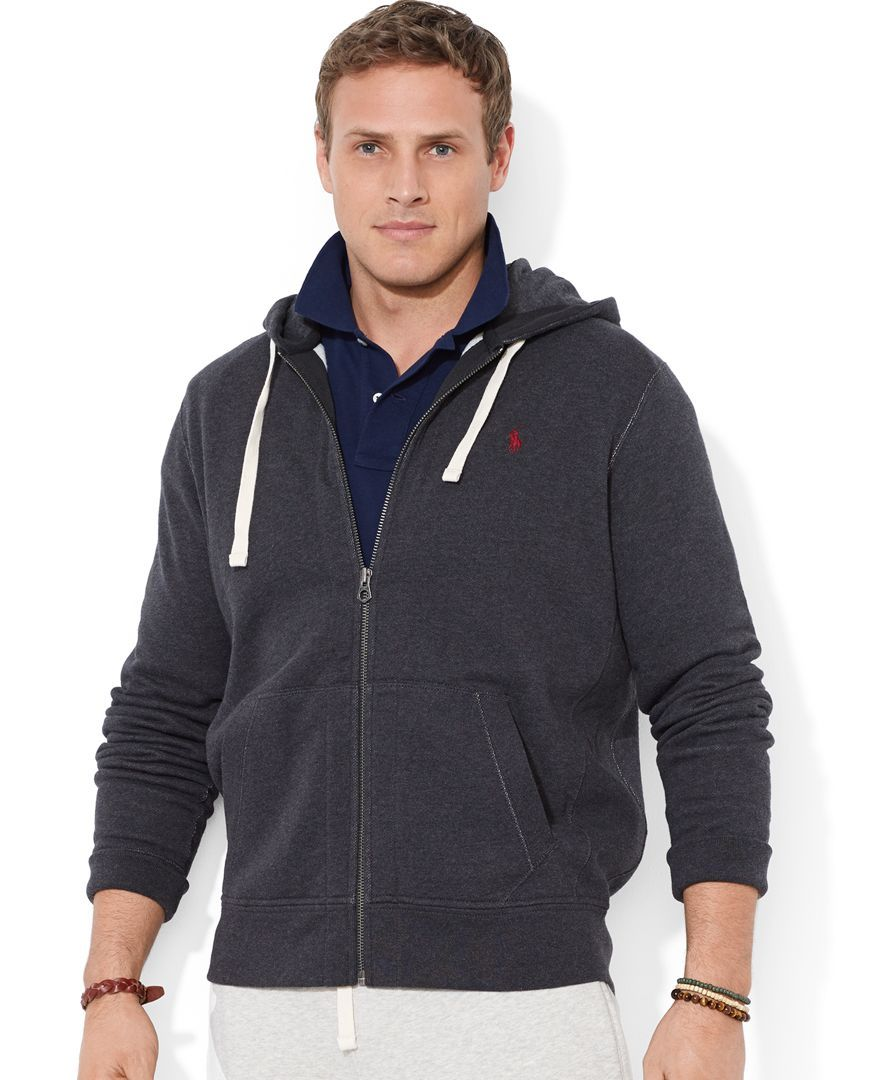 Men's Big and Tall Classic Fleece Full Zip Hoodie Full