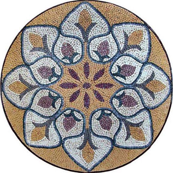 Mosaic Medallion Lily Of The Nile Mosaics Pinterest Mosaique