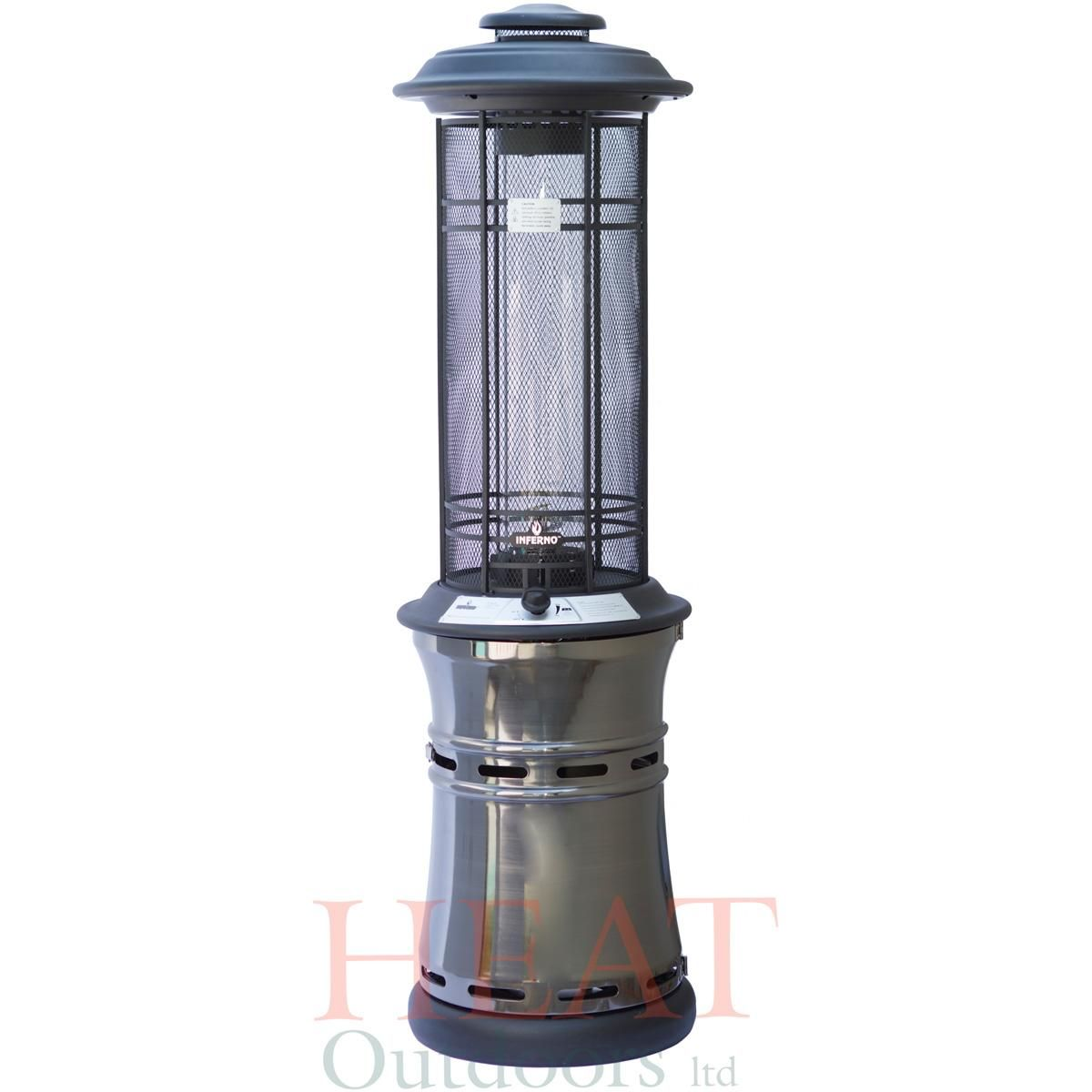 patio heaters santorini spiral flame gas patio heater heat outdoors - Outdoor Propane Heaters