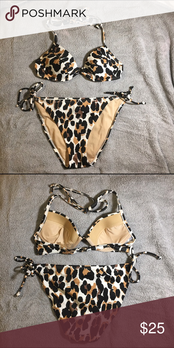 fd3c4a6420e Victoria's Secret bikini Victoria's Secret animal print bikini. Top ...