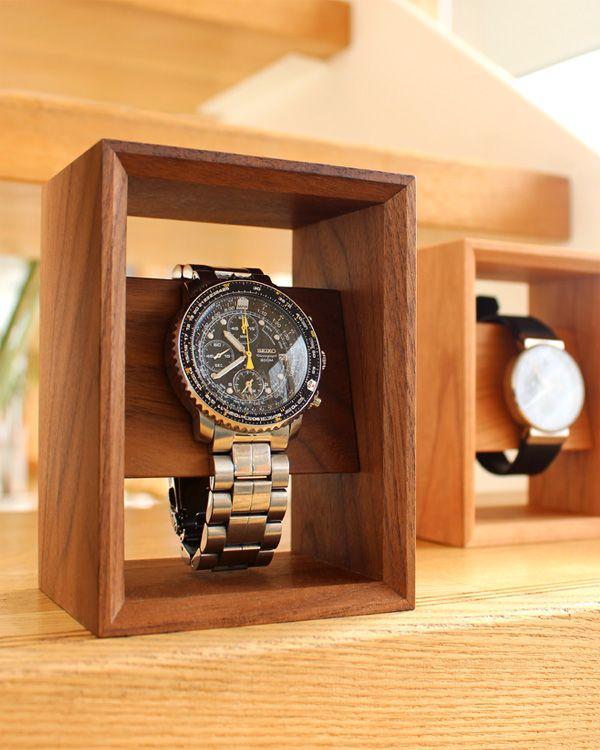 best authentic 3d295 edcd0 額縁の様に飾る 木のウォッチスタンド「Display Frame for Watch ...