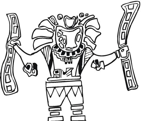 Azteekse Kunst Kleurplaat Mexico Pinterest Aztec Art And Aztec