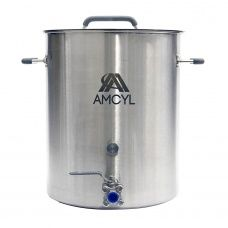 Amcyl 10 Gallon Brew Kettle W 3 Piece Ball Valve Home Brew Supplies Home Brewing Brewing Equipment