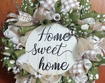 Photo of BEST SELLING All year round cream hydrangea wreath for front door – grapevine wreath with burlap and initial – monogram everyday wreath
