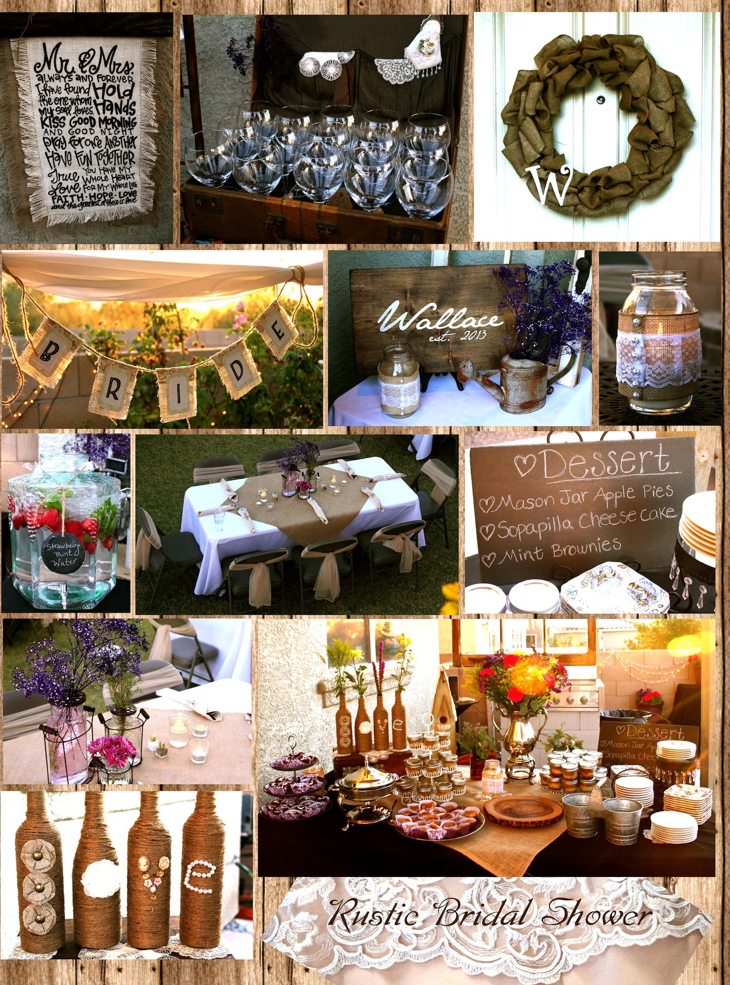 Chic Rustic Bridal Shower - lots of burlap and lace ...