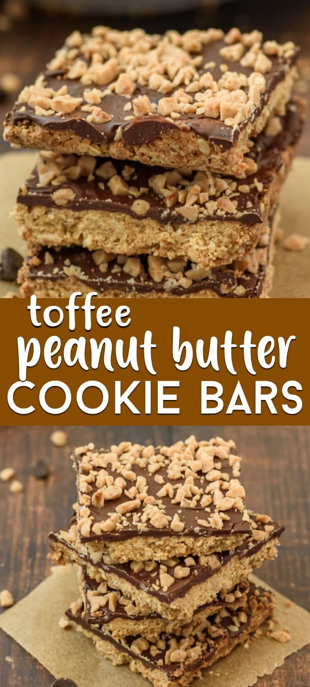 Photo of Peanut Butter Toffee Bars Recipe – Crazy for Crust