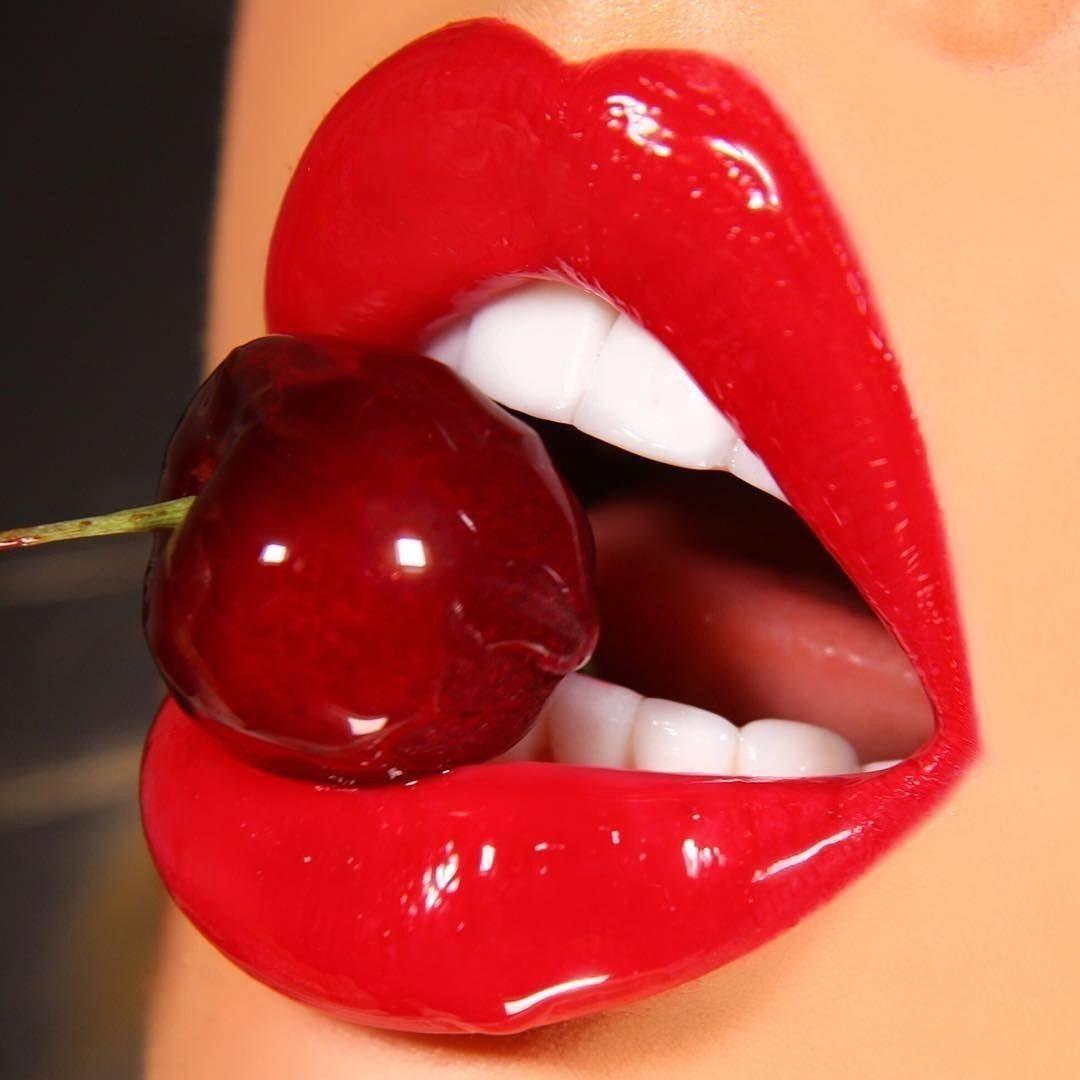 Cherry Lipstick Lipstick Art Cherry Lipstick Lips Photo