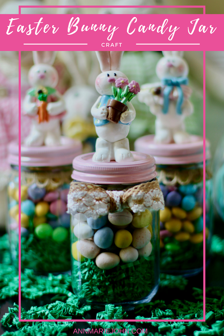 Easter bunny candy jar easter bunny easter and bunny christmas gifts negle Choice Image