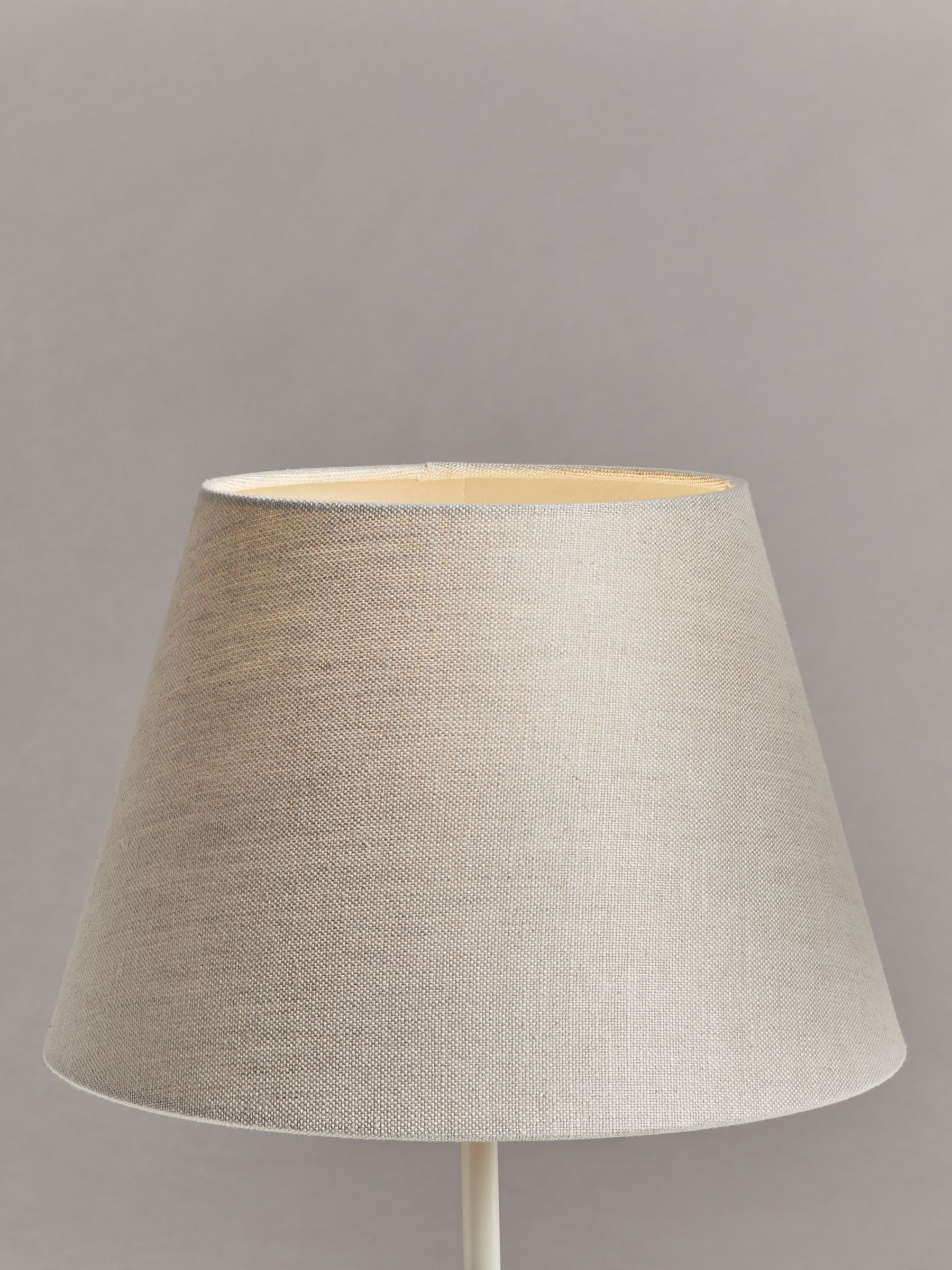 John Lewis Partners Sophia Pure Linen Tapered Lampshade Natural Lamp Shades Pure Products Ceiling Lamp Shades