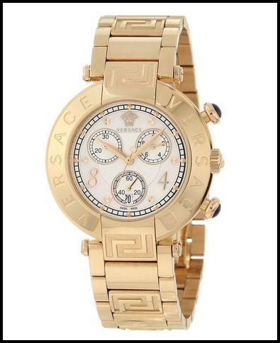 Versace Women's 68C70D498 S070 Reve Chrono Golden MOP Watch