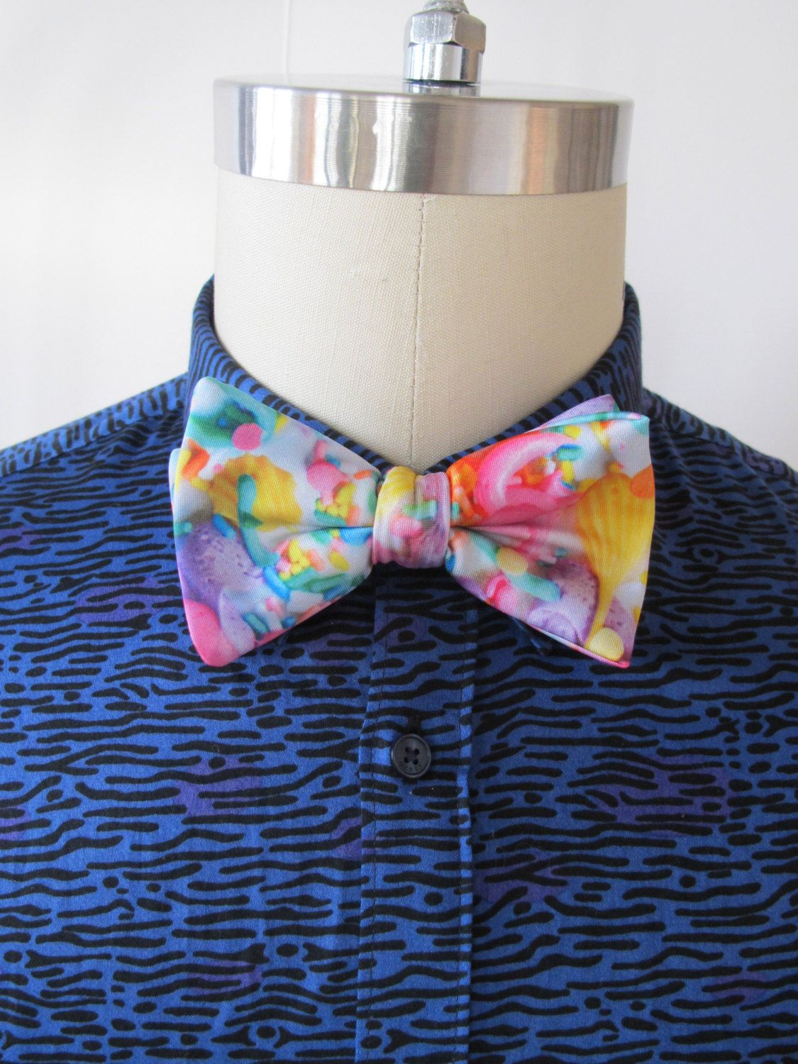 Pastel Frosting Bow Tie. Clipon or Adjustable Strap by PrettySnake, $18.00