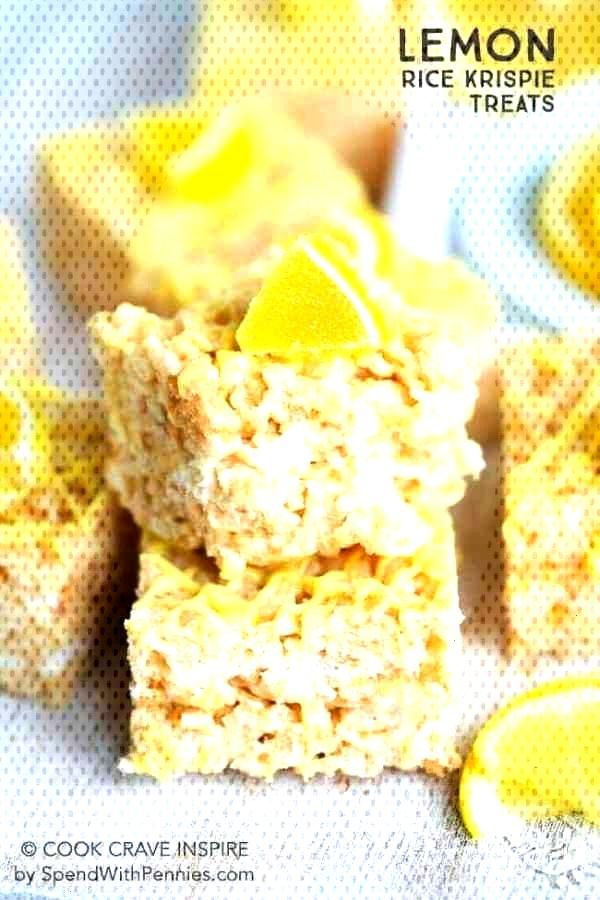 Lemon Rice Krispie Treats - -