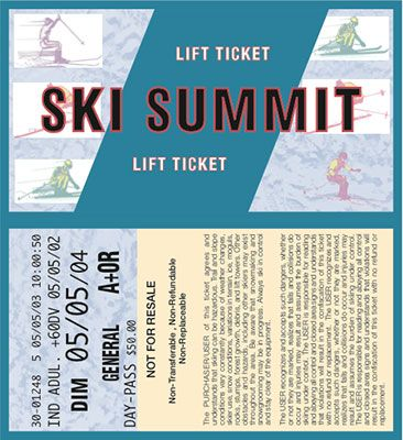 ski lift ticket template - Google Search SKI LODGE 2016 - invitation ticket template