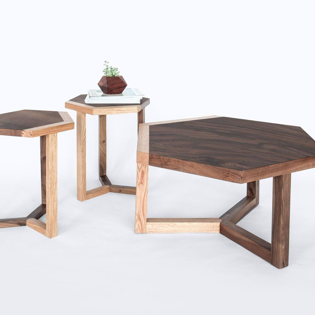 Wood Coffee Tables Hexagon Coffee Table The Citizenry Live - Hexagon wood coffee table