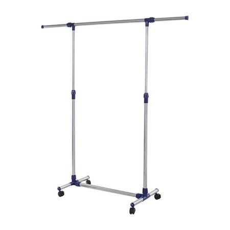 Charming Apontus Rolling Clothes Rack Adjustable Garment Rack Portable Hanging Rack  For Clothes With Brake Wheels
