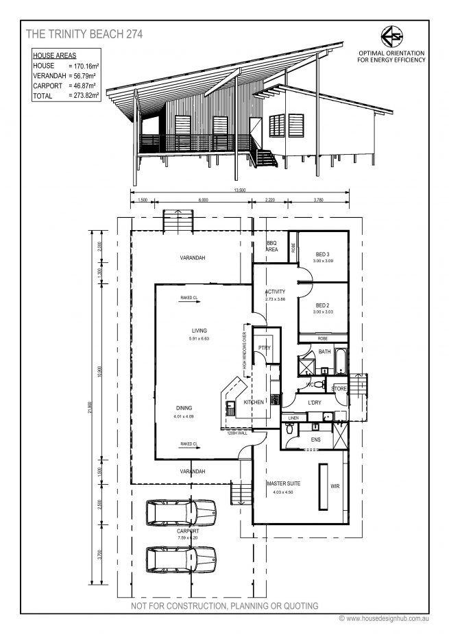 Tropical Climate House Plan With Raised Light Weight Construction And Skillion Roofs House Design Tropical House Design Australian House Plans