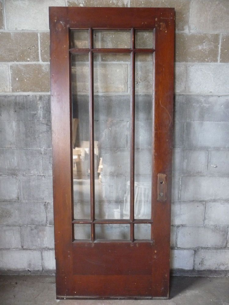 Antique Craftsman Style Entry Door 1910 Nine Pane Fir Architectural Salvage In 2020 Antique Doors For Sale Entry Doors Architectural Salvage