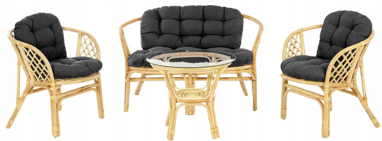 Zestaw Mebli Rattanowych Ogrodowych Bahama Natural 9121386513 Oficjalne Archiwum Allegro Outdoor Chairs Furniture Outdoor Furniture