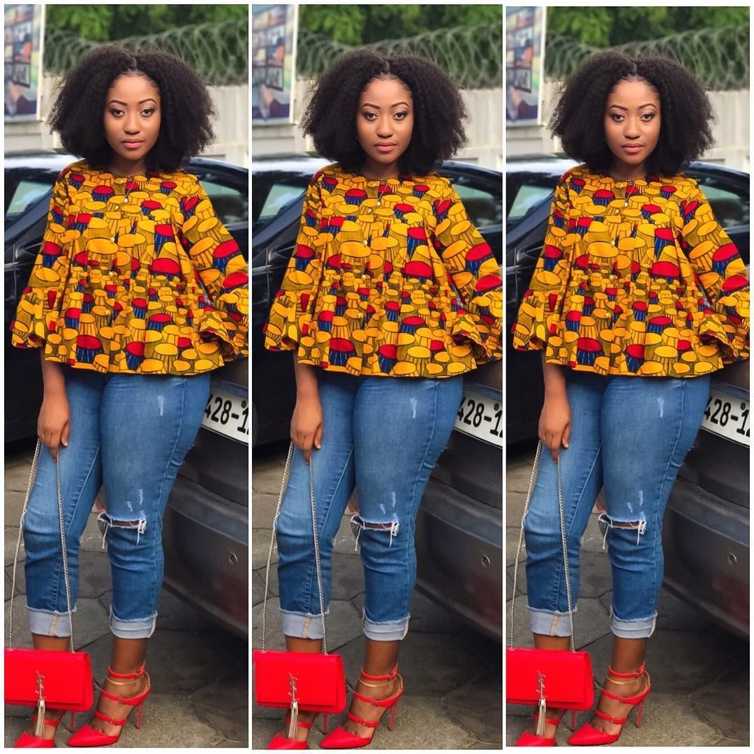 Are You Looking For Some Stylish And Trendy Ankara Tops To Wear With Jeans Then This Post Will