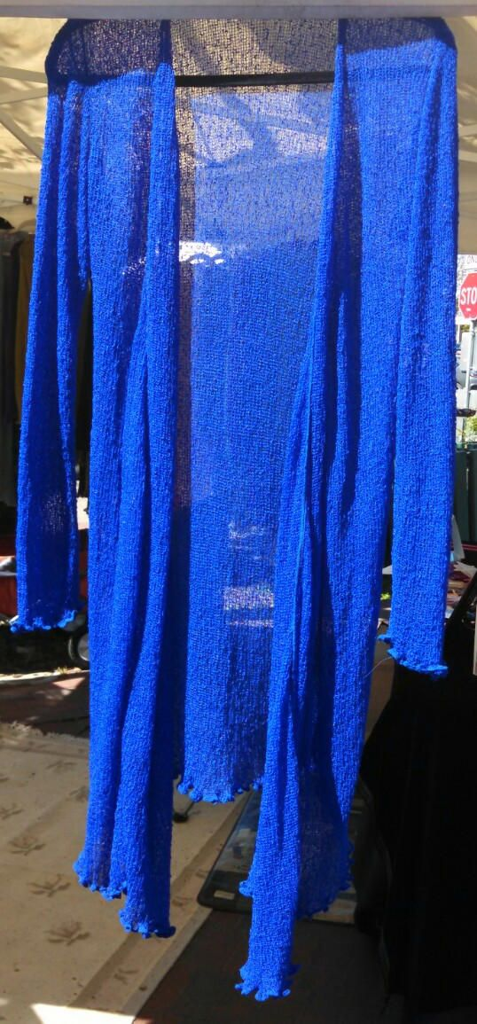 43.99 NEW! Buttery soft elegant Electric blue knit long Cardigan.  One size wear to the office and then out to dinner! by WildGingerDesign on Etsy