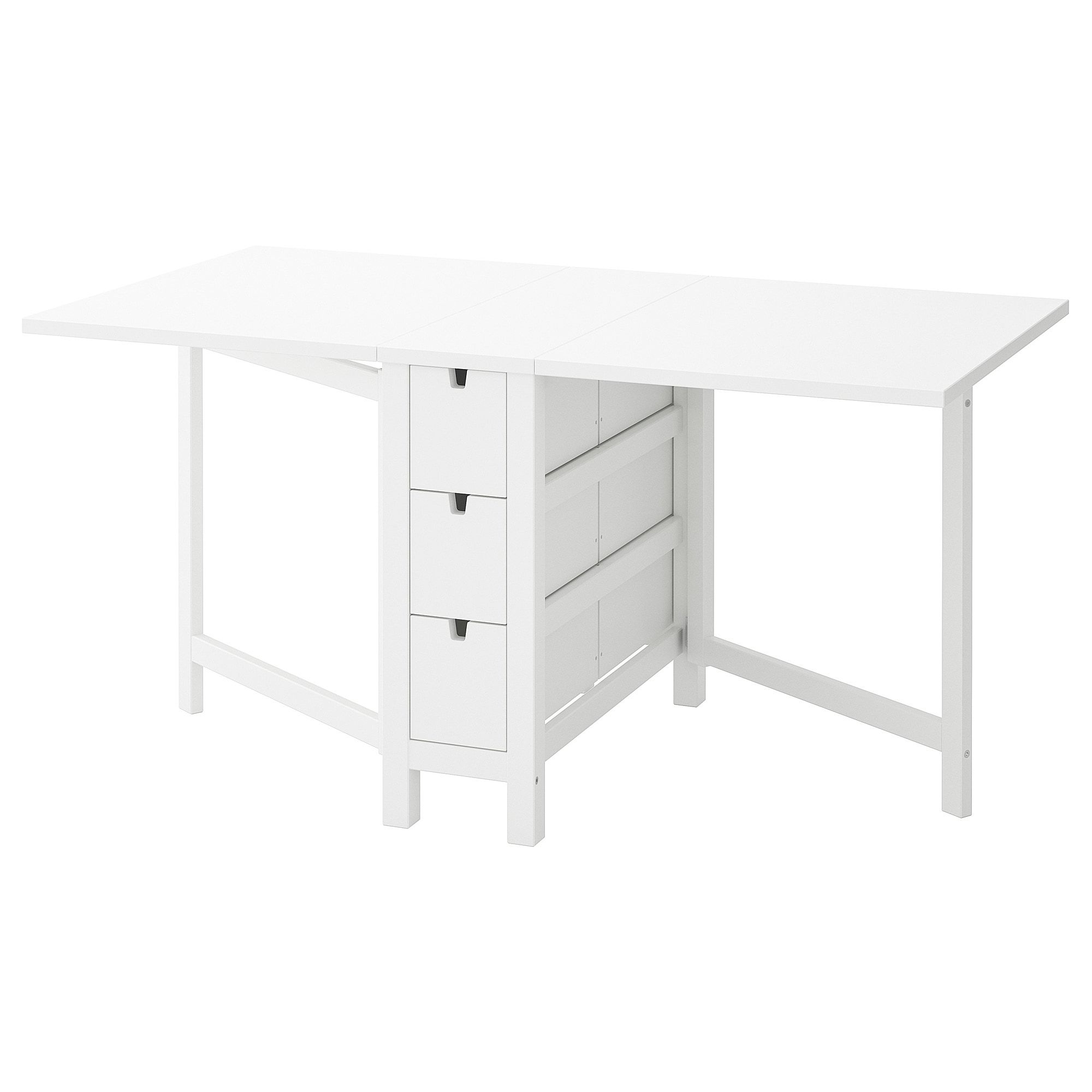 Norden Table A Rabat Blanc 26 89 152x80 Cm En 2020 Table A Rabat Decoration Appartement Moderne Ikea