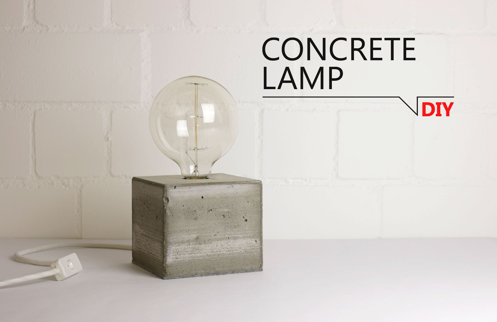 Lampada In Cemento Fai Da Te : Diy concrete lamp video tutorial fai da te fai