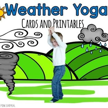weather themed yoga cards and printables  yoga for kids