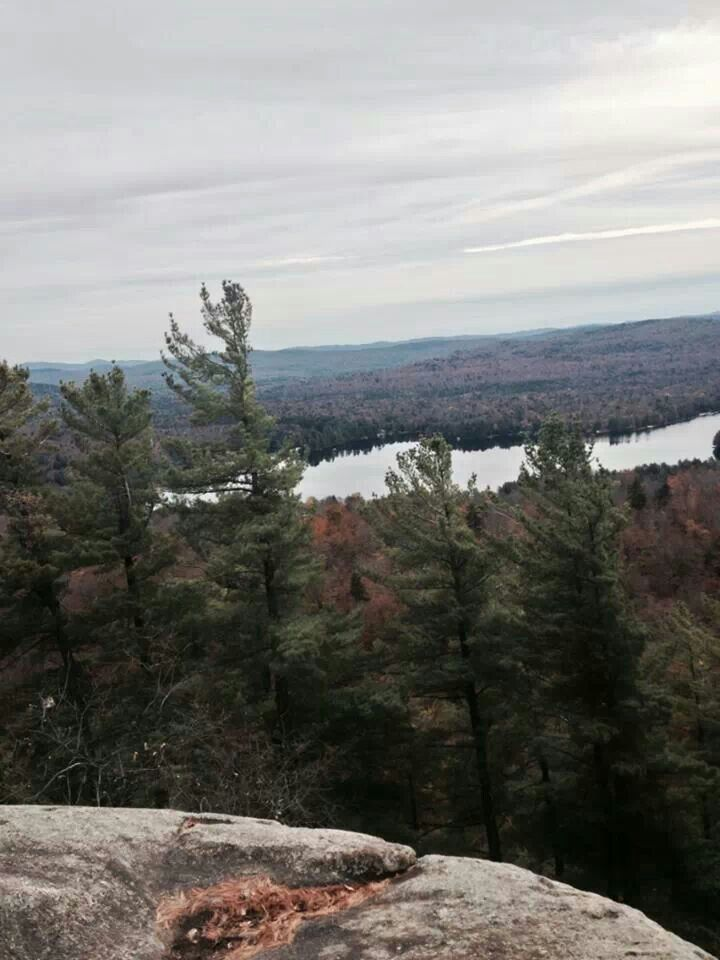 Fulton Chain of Lakes, view from Bald Mountain, Adirondack Mts, NY