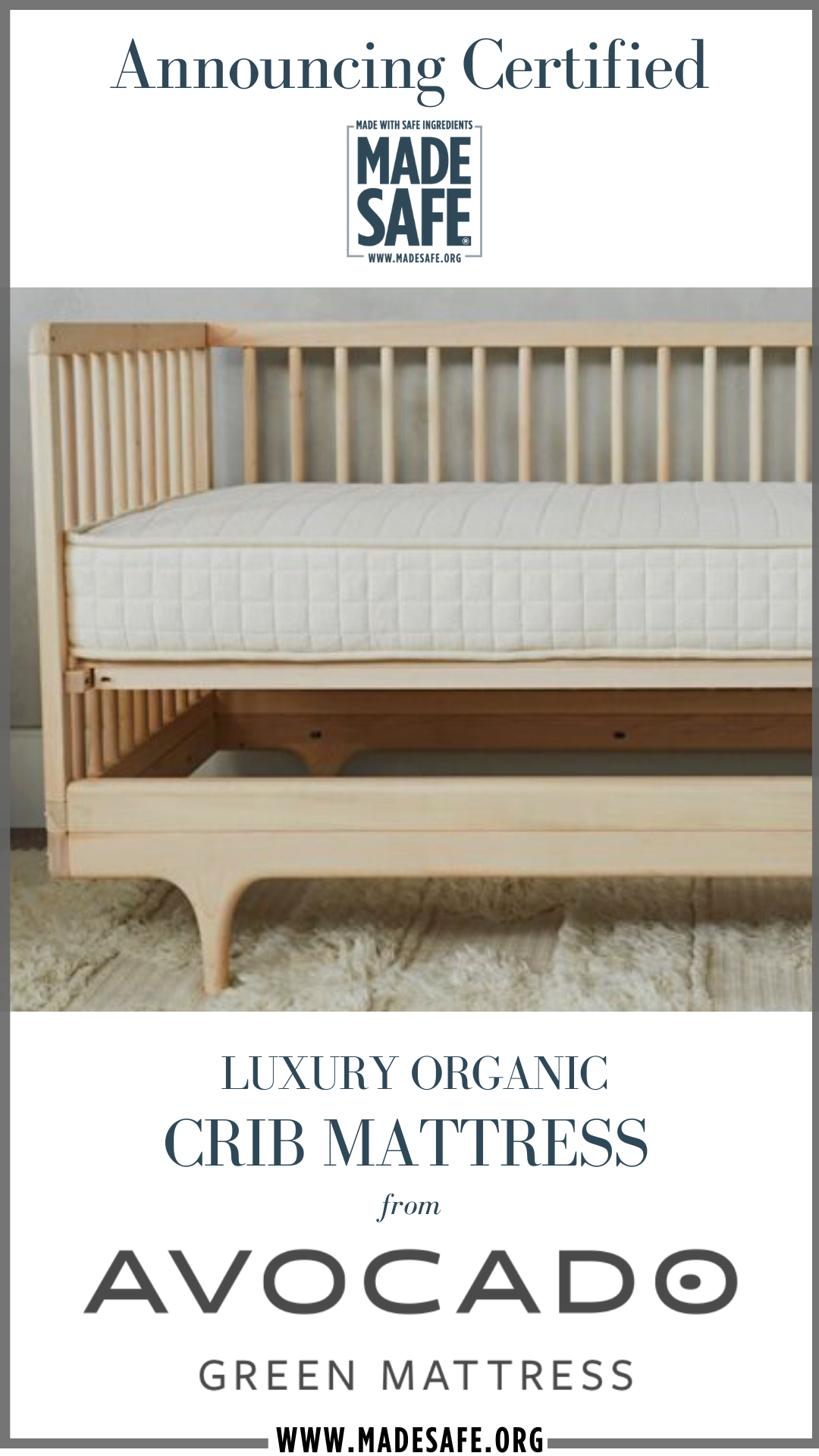 Organic Baby Crib Mattress Infant To Toddler Avocado Green Mattress In 2020 Organic Crib Mattress Crib Mattress Baby Crib Mattress