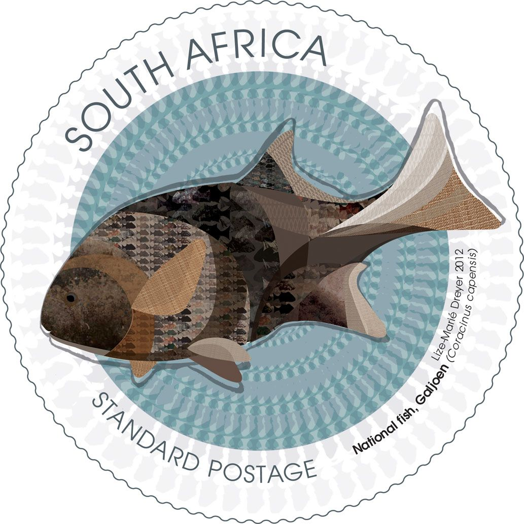 Lize marie dreyer stamps pinterest africa and south for Fish symboled stamp