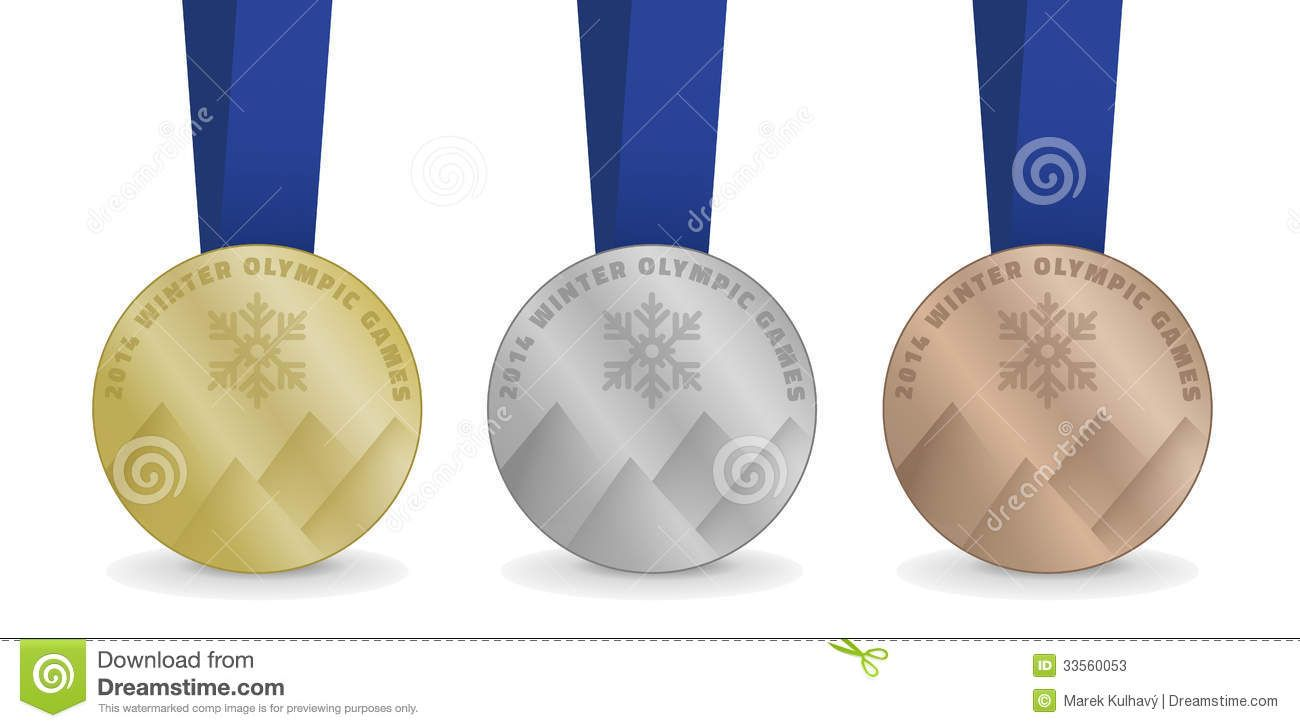 olympic silver medal clipart vector medals for winter [ 1300 x 728 Pixel ]