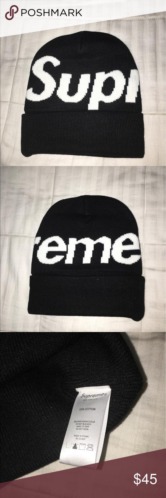 Supreme big logo beanie Brand new. I also do bundles Supreme Accessories  Hats ed27cd2161e