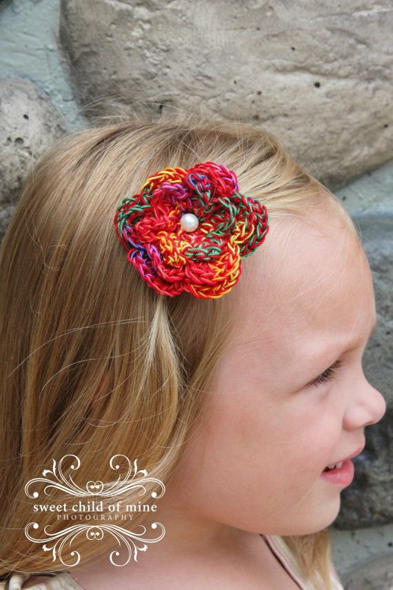Crochet Boutique Flower Hair and Hat Clips by PrairieGirlDesignZ, $7.00