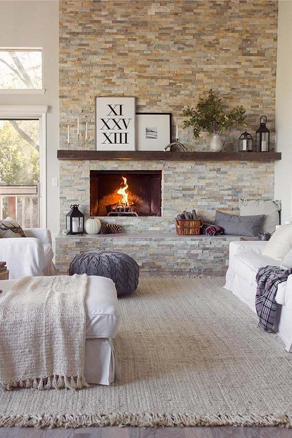 30 Beautiful fall-inspired living room designs images