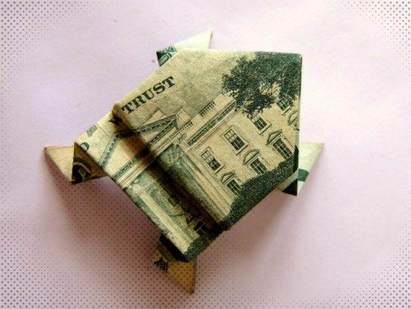 Dollar Bill Origami Frog Origami D Pinterest Origami Frog