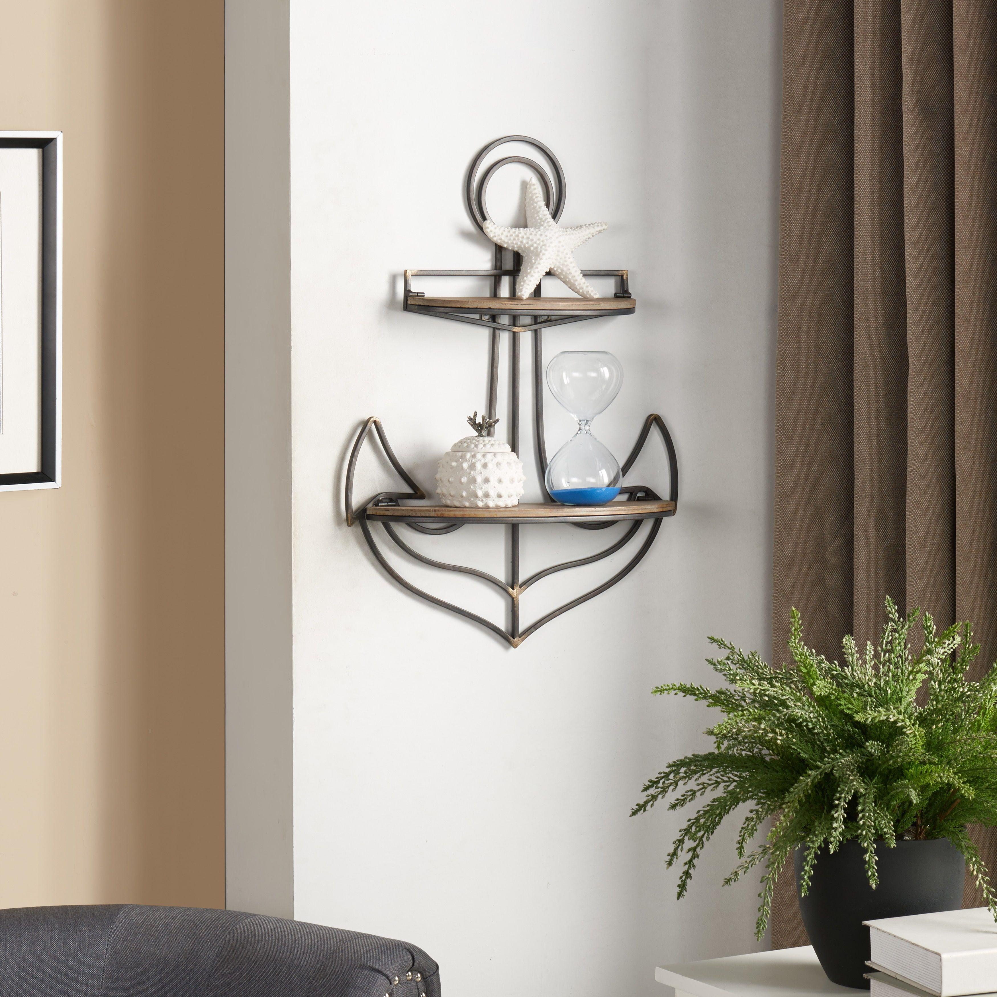 Best Danya B Anchor Wall Shelf Wall Shelves Nautical 400 x 300