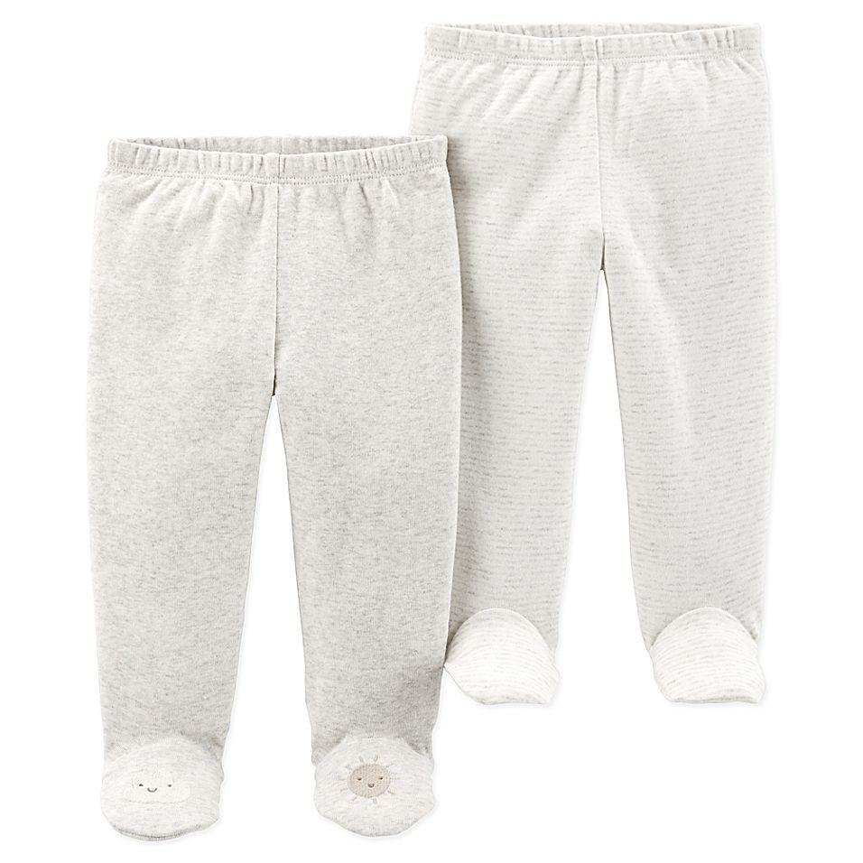 Kids Carters Girls Baby 2 Pack Cotton Leggings Toddler