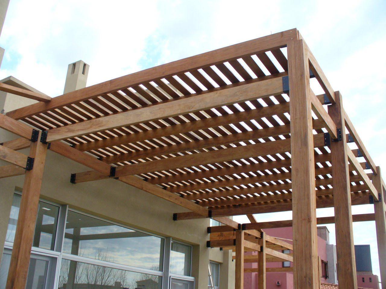 P rgolas de madera del muebles de madera for Arboles para balcones y terrazas
