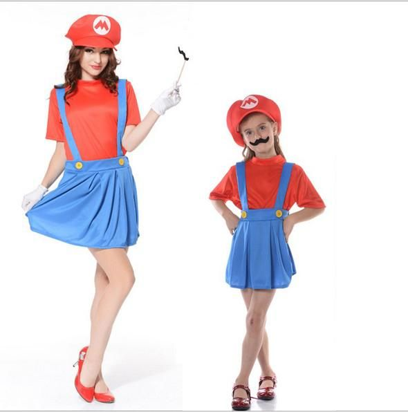 Super Mario Luigi Brothers Cosplay Costume Fancy Dress Up Party Cute ...