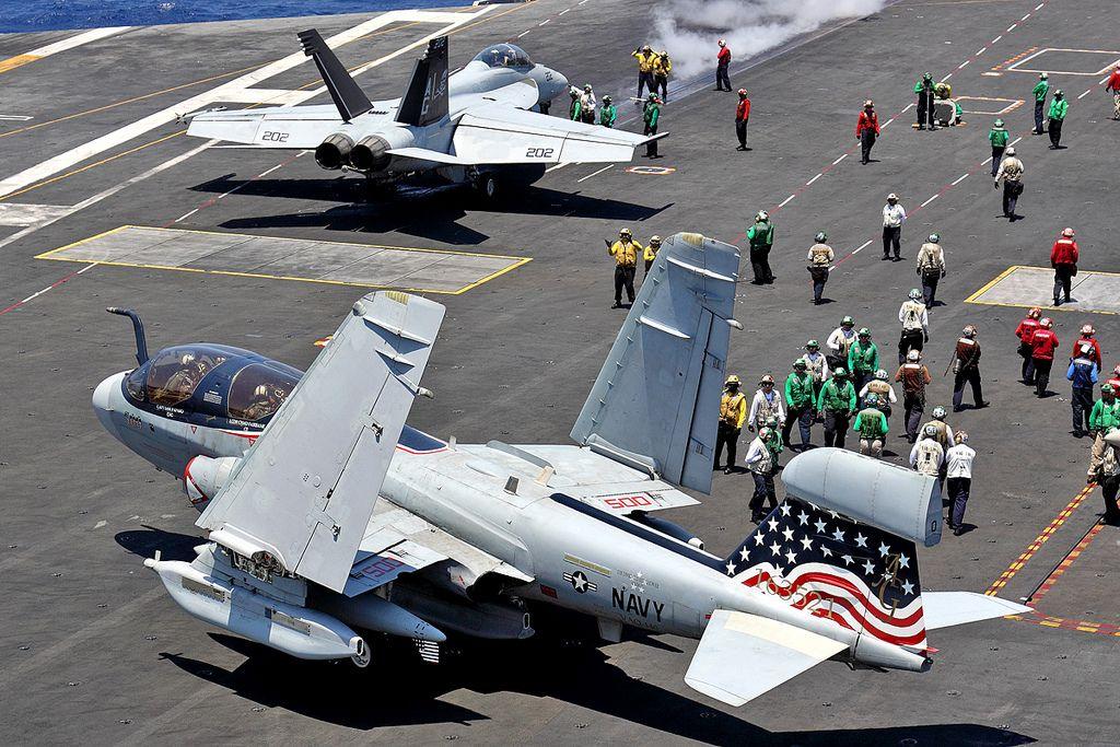 "163521/AG-500 EA-6B  VAQ-140 ""Patriots"", CVW-7, NAS Whidbey Island | by Stuart Freer - Touchdown Aviation"