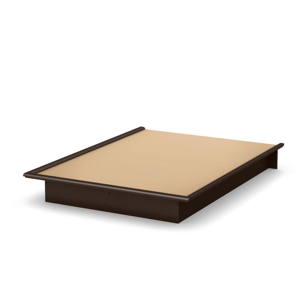 South Shore Step One Chocolate Full Size Platform Bed Brown