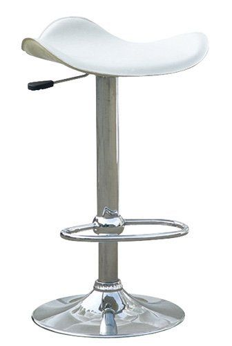 Remarkable Saddle Contemporary Adjustable Leather Bar Stool White Gmtry Best Dining Table And Chair Ideas Images Gmtryco