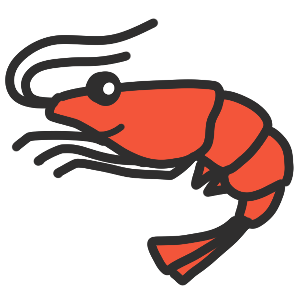 エビイラスト テイストたくさん 海の生物素材 チコデザ 海老 イラスト イラスト 動物の落書き