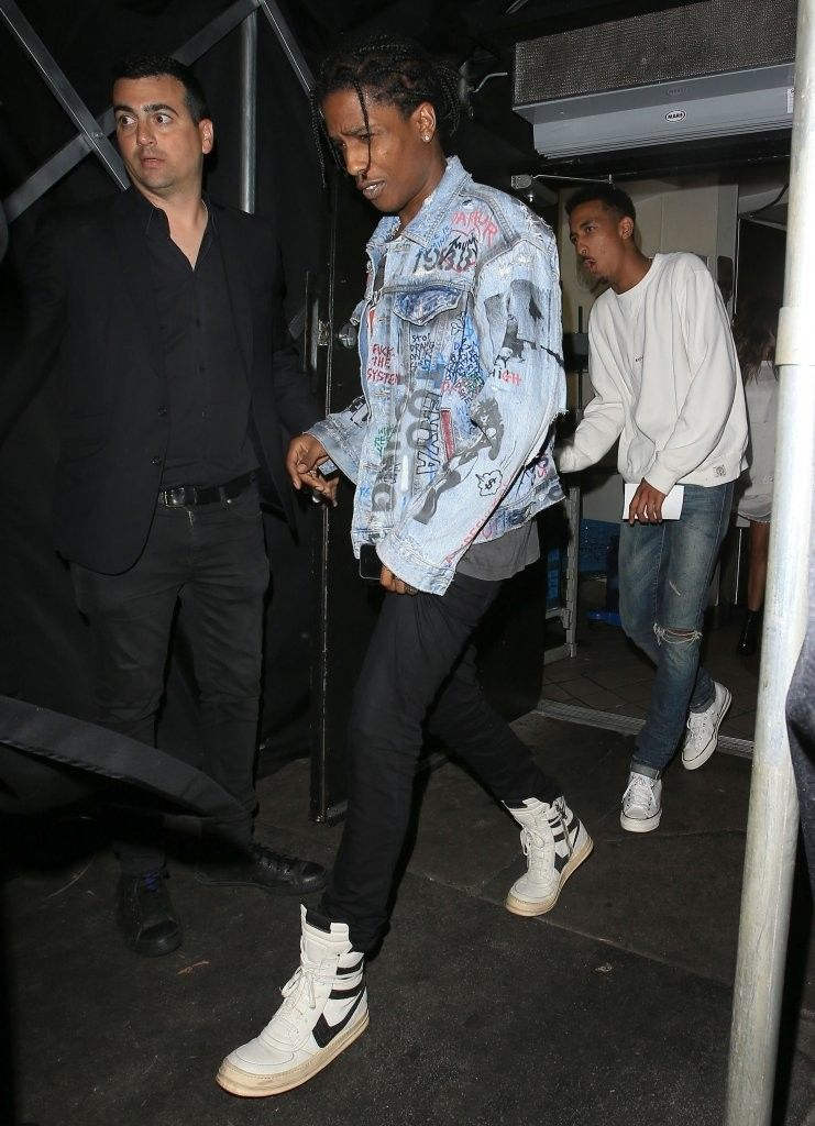 ASAP Rocky Spotted Leaving Nice Guy LA wearing Vintage Spring/Summer 2008  Rick Owens Dunk